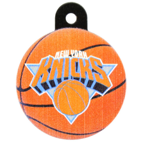 New York Knicks Round Basketball Dog ID Tag