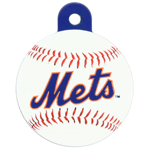New York Mets Round Baseball Dog ID Tag