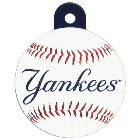 New York Yankees Round Baseball Dog ID Tag