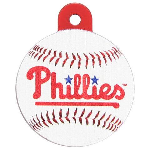Philadelphia Phillies Round Baseball Dog ID Tag