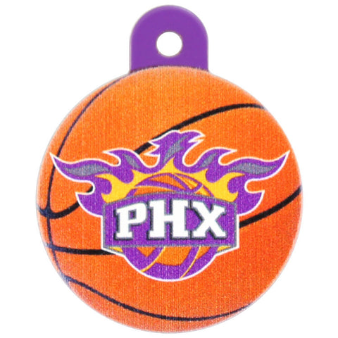 Phoenix Suns Round Basketball Dog ID Tag