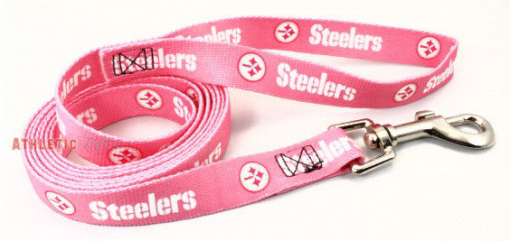 Pittsburgh Steelers Pink Dog Leash (Discontinued)