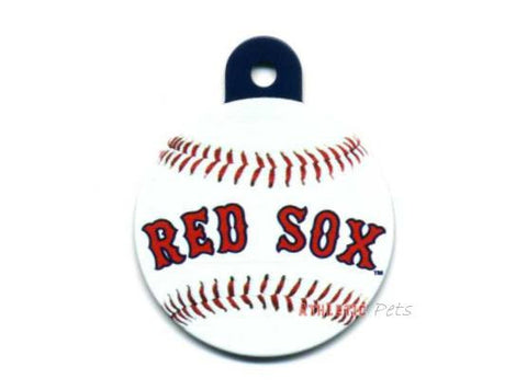 Boston Red Sox Round Baseball Dog ID Tag