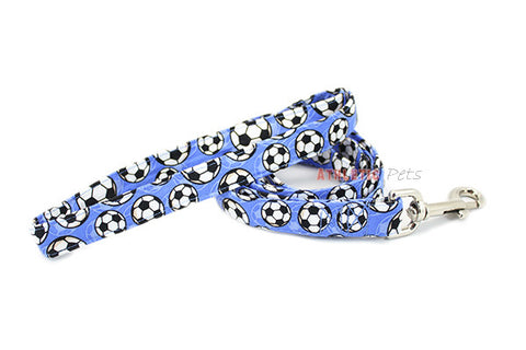 Blue Soccer Ball Dog Leash