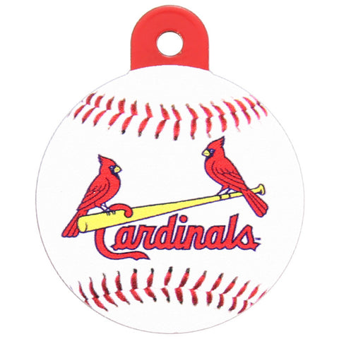 St. Louis Cardinals Round Baseball Dog ID Tag