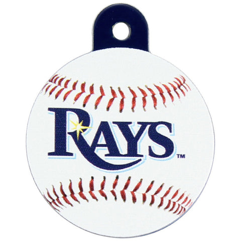 Tampa Bay Rays Round Baseball Dog ID Tag