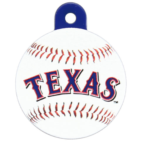 Texas Rangers Round Baseball Dog ID Tag