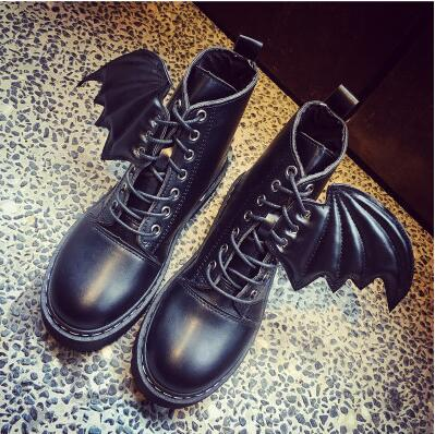 HALLOWEEN  Flyin' Wings Winter Goth Boots - Gothic Avenue