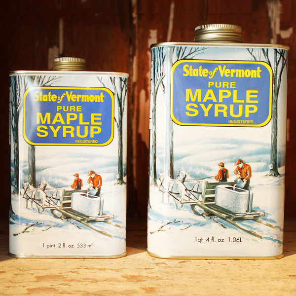 Maple Syrup in Traditional Lithographed Metal Container