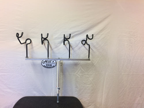 24 inch T-bars With 4 holders Crappie King 3/4 inch screw in Seat Pedestal Reel