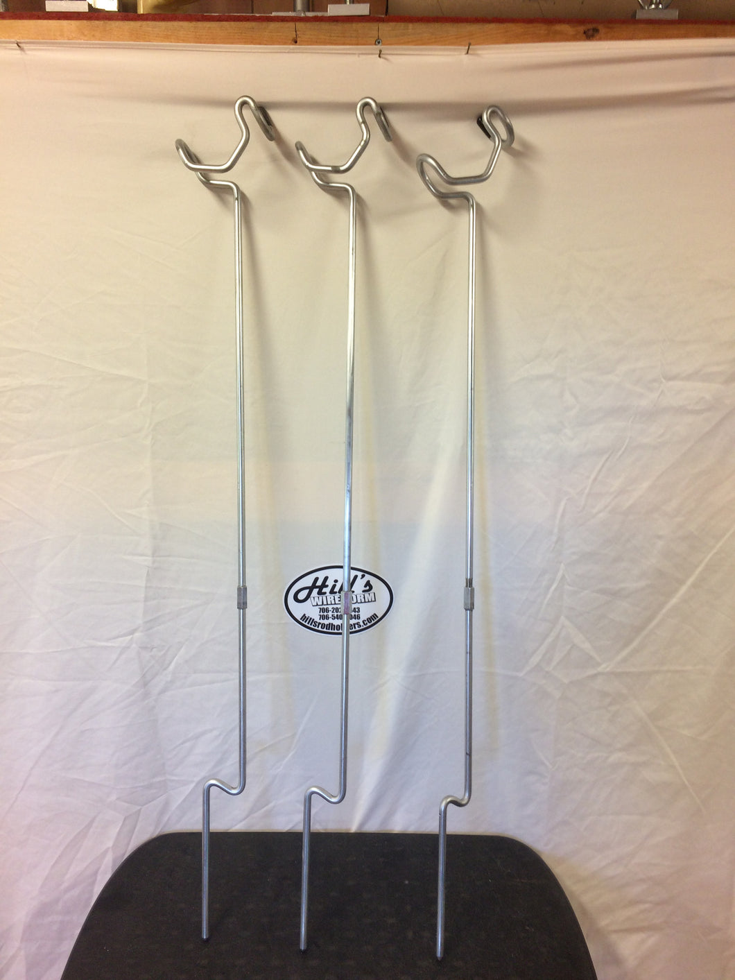 3 Rod Holders For Bank Fishing  Heavy Duty 32 + inches Long