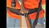 Gunslinger Corral™ Compact Rifle Belt Holster- Hunter Orange