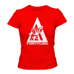 Delta Sigma Theta Fortitude Tee - Red - Letters Greek Apparel - Black Greek Paraphernalia - Divine Nine Greek Apparel