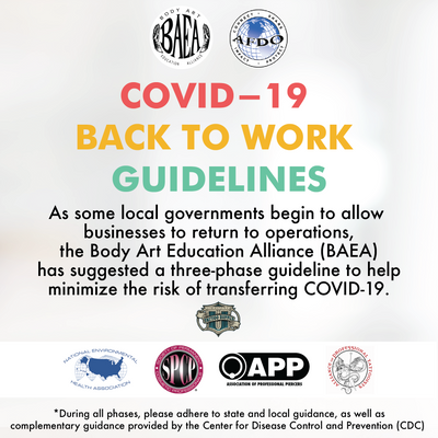 The Body Art Education Alliance COVID-19 Back To Work Guidance