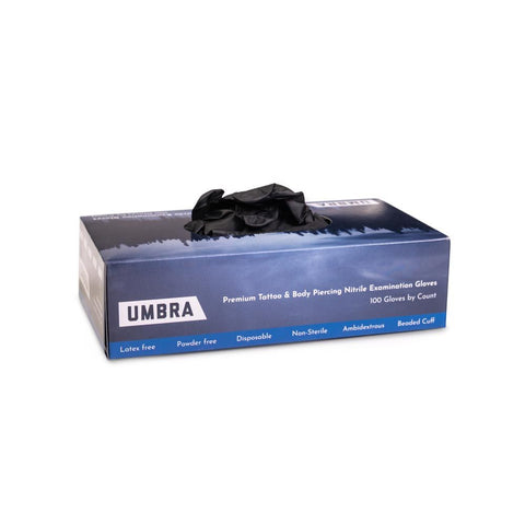 Recovery Umbra Black Disposable Nitrile Gloves — Box of 100