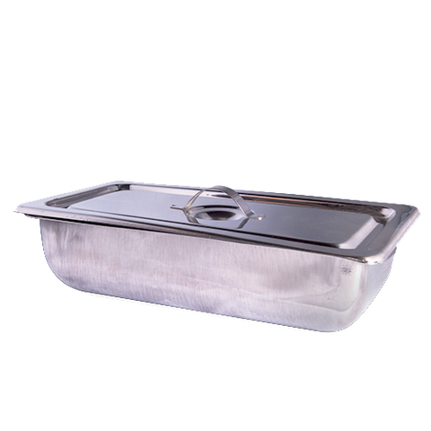 Stainless Steel Instrument Tray With Lid - Medium