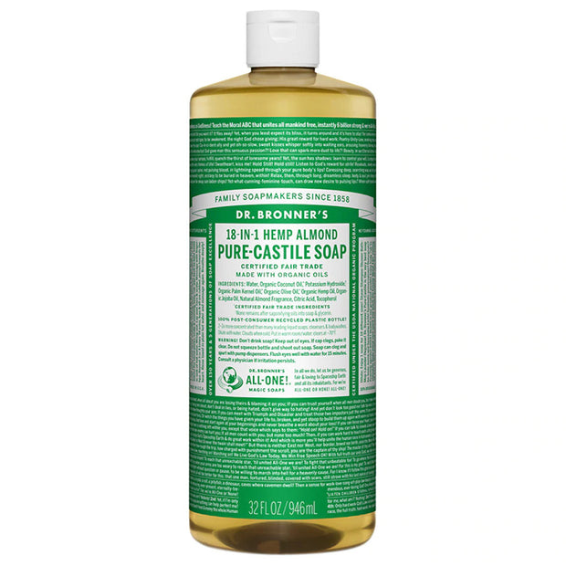 Dr. Bronner's Pure Castile Soap - Almond - 32oz. Bottle