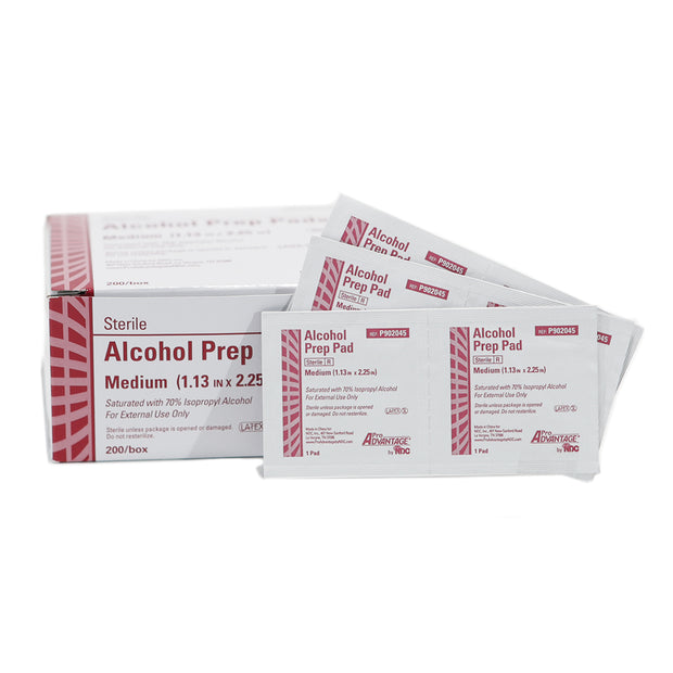 Alcohol Prep Pads - Medium - 200 / bx