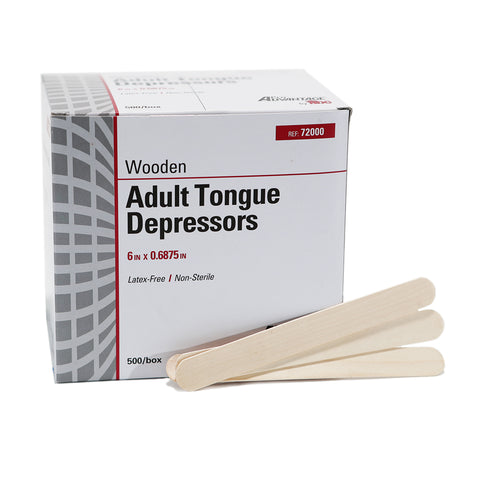 Tongue Depressors - Non-Sterile  -  500 / Box