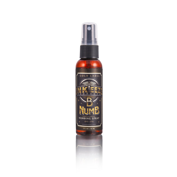 "INK-EEZE B Numb Numbing Spray ""Gold Label"" – 2oz"
