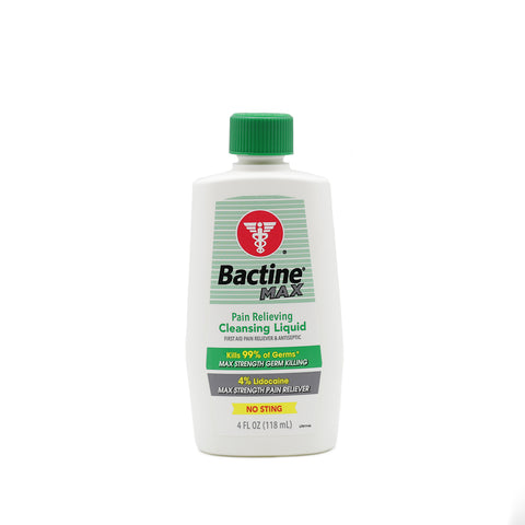Bactine MAX First Aid Liquid - 4oz. Squeeze Bottle