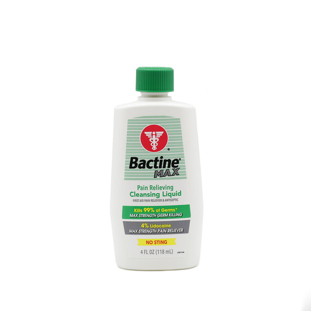 Bactine MAX First Aid Liquid - 4 oz Squeeze Bottle