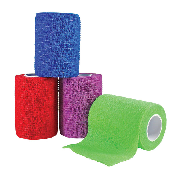 "COHESIVE BANDAGES - 3"" x 5"" YDS - (MIXED COLORS-CASE)"