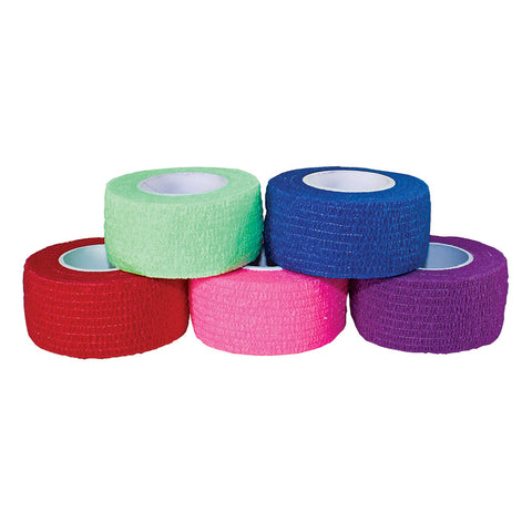 "COHESIVE BANDAGES - 1' x 5"" YDS (MIXED COLORS - CASE)"
