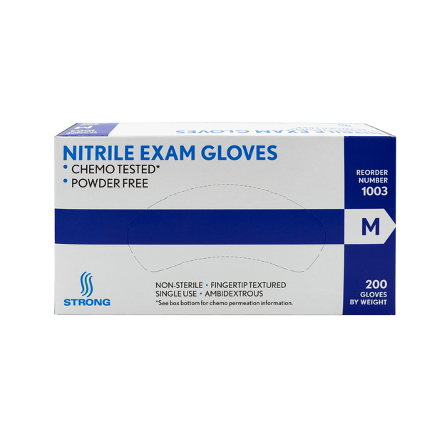 Strong Blue Disposable Nitrile Gloves - 200/bx