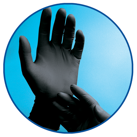 Adenna Phantom - Black Latex Exam Gloves – Powder Free