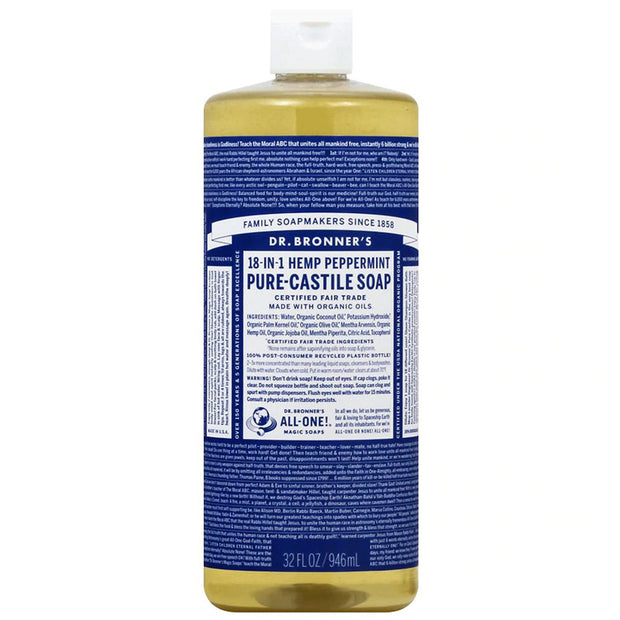 Dr. Bronner's Pure Castile Soap - Peppermint - 32oz. Bottle