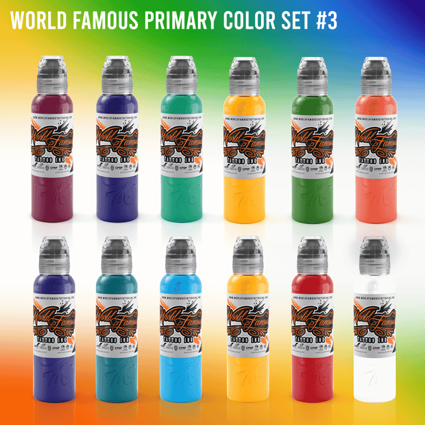 World Famous Primary Color Ink Set #3