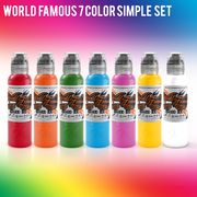 World Famous 7 Color Simple Set - 1/2oz.