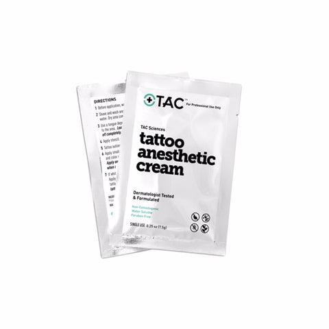 TAC Tattoo Anesthetic Cream Single Use Packets - 0.25oz (1 PACKET)