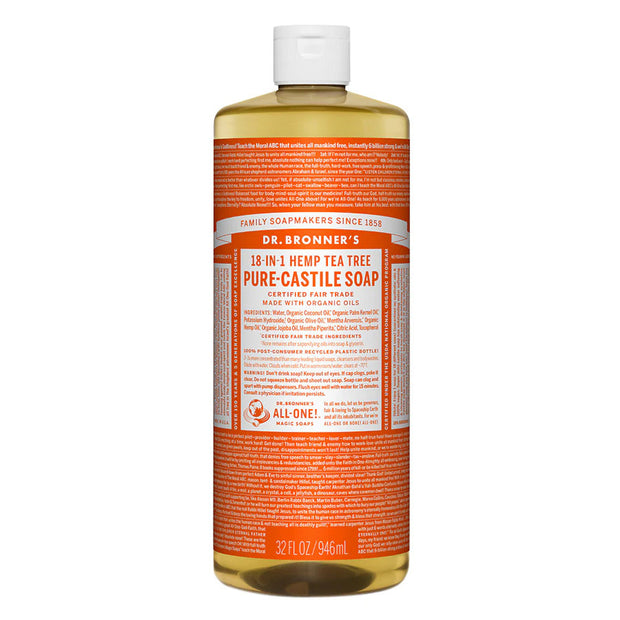 Dr. Bronner's Pure Castile Soap - Tea Tree - 32oz. Bottle