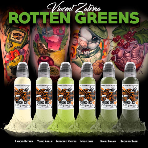 Vincent Zaterra Rotten Greens Ink Set