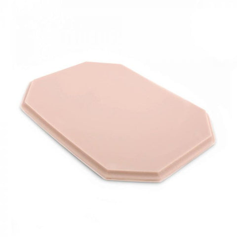 A Pound of Flesh Tattooable Octagonal Plaque — Pink Tone