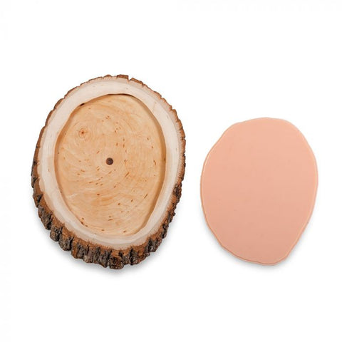 A Pound of Flesh Gallery Series Tattooable Synthetic Round Wooden Plank — Small