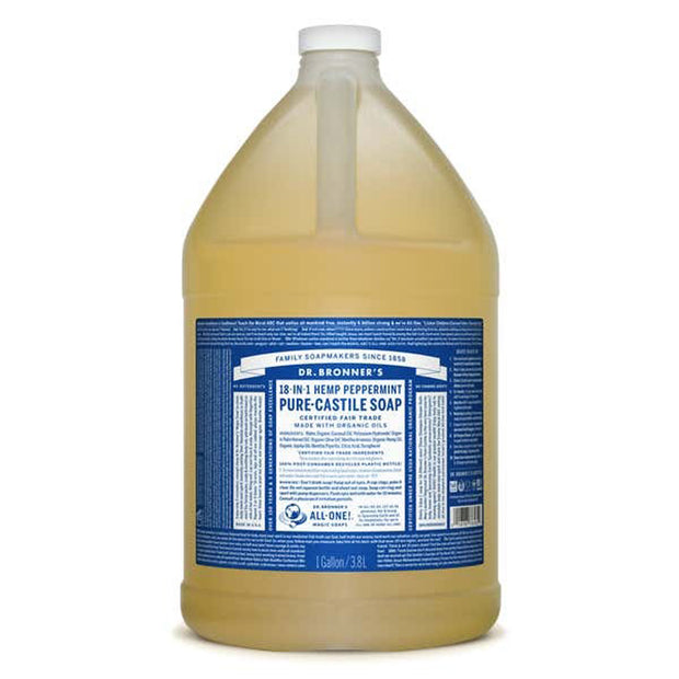 Dr. Bronner's Pure Castile Soap - Peppermint - 1 Gallon