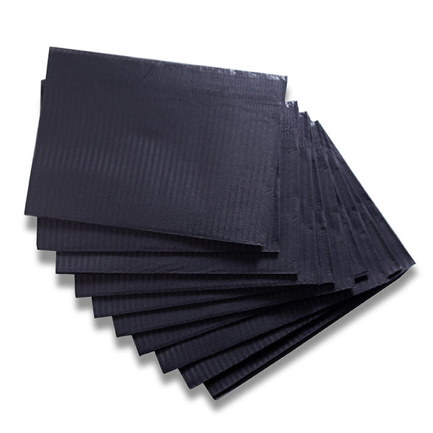 Blakcat Lap Cloths - Black - 500/Case