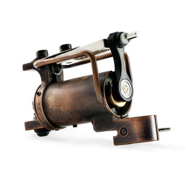 HM Frankenstein Rotary Tattoo Machine - Copper with Antique