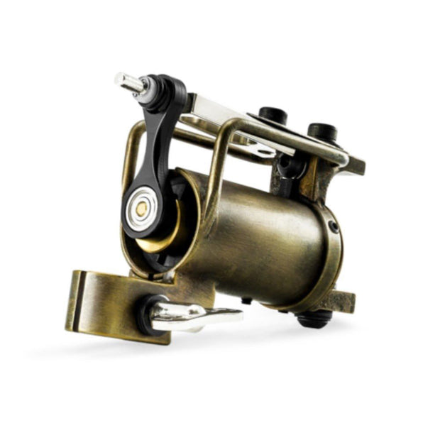 HM Frankenstein Rotary Tattoo Machine - Brass with Antique
