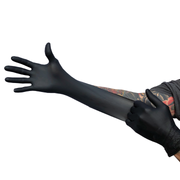 Blackwork Latex Gloves - Black