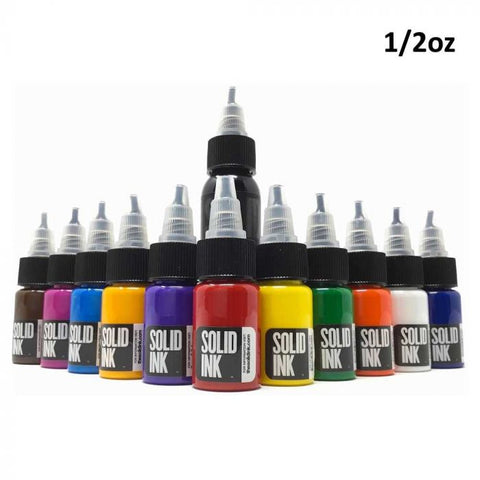 Solid Ink - 12 Color Mini Travel Set 1/2oz Bottles