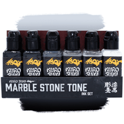 Kuro Sumi Marble Stone Tone Tattoo Ink Set