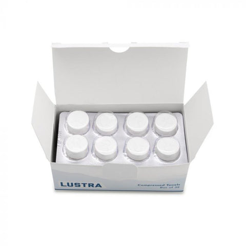 Recovery Lustra Compressed Towels — Box of 32