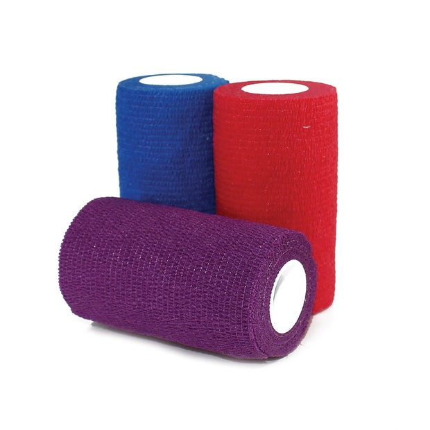 "COHESIVE BANDAGES - 4"" x 5"" YDS - (MIXED COLORS-CASE)"