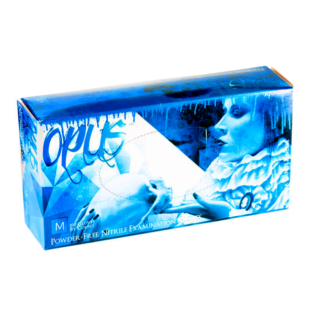 Opus Blue Nitrile Exam Gloves PF