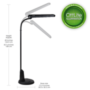 Ottlite 24 Watt Black Floor Lamp