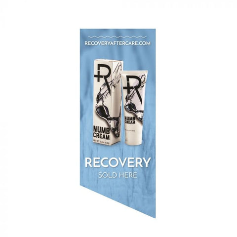 Recovery Sold Here Window Cling — Ice Background — Price Per 1